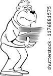 black and white illustration of ... | Shutterstock .eps vector #1176881575