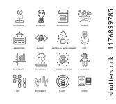 set of 16 simple line icons... | Shutterstock .eps vector #1176899785