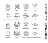 set of 16 simple line icons... | Shutterstock .eps vector #1176899815