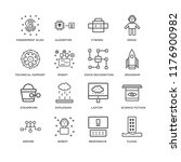 set of 16 simple line icons... | Shutterstock .eps vector #1176900982