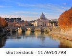 autumn landscape with view at... | Shutterstock . vector #1176901798