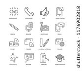 set of 16 simple line icons... | Shutterstock .eps vector #1176902818