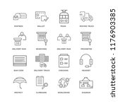 set of 16 simple line icons... | Shutterstock .eps vector #1176903385