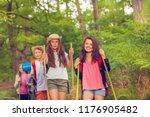 group portrait of kids hiking... | Shutterstock . vector #1176905482