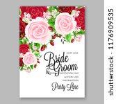 red rose wedding invitation... | Shutterstock .eps vector #1176909535