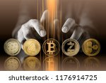 cryptocurrency business...   Shutterstock . vector #1176914725