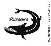 barracuda fish for your design | Shutterstock .eps vector #1176916432