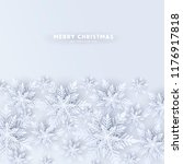blue merry christmas greetings... | Shutterstock .eps vector #1176917818