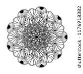 mandalas for coloring  book.... | Shutterstock .eps vector #1176918382