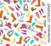 boho fashion clothes seamless... | Shutterstock .eps vector #1176918565