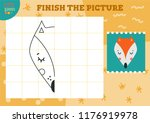 copy and complete the picture... | Shutterstock .eps vector #1176919978