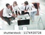 business team discussing a...   Shutterstock . vector #1176920728