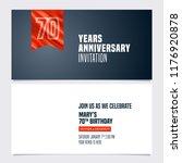 70 years anniversary invitation ... | Shutterstock .eps vector #1176920878