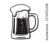 glass mug of beer. hand drawn... | Shutterstock .eps vector #1176921238