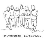 continuous line drawing of a... | Shutterstock .eps vector #1176924232