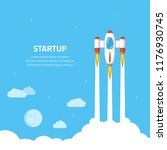 business startup concept banner.... | Shutterstock .eps vector #1176930745