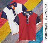 two designs   t shirt mockup ... | Shutterstock . vector #1176933715