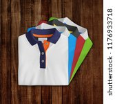 t shirt mockup  folded and... | Shutterstock . vector #1176933718