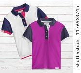 two designs   t shirt mockup ... | Shutterstock . vector #1176933745