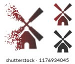 wind mill icon in fractured ... | Shutterstock .eps vector #1176934045