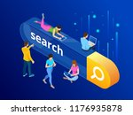 isometric search bar modern... | Shutterstock .eps vector #1176935878