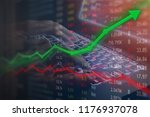 investing and stock market... | Shutterstock . vector #1176937078