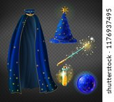 Vector Set With Wizard Costume...
