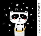 cute panda dreamer. vector... | Shutterstock .eps vector #1176938722