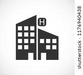 hotel vector icon 10 eps | Shutterstock .eps vector #1176940438