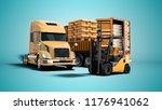 modern concept of unloading... | Shutterstock . vector #1176941062