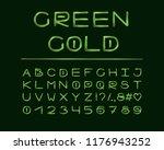alphabet elegant design. luxury ... | Shutterstock .eps vector #1176943252