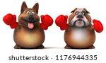 german shepherd dog and english ...   Shutterstock . vector #1176944335