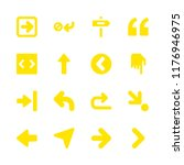 right icons set with down right ...   Shutterstock .eps vector #1176946975