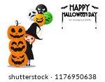 illustration happy halloween... | Shutterstock .eps vector #1176950638