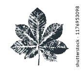 vector black chestnut leaf... | Shutterstock .eps vector #1176953098