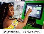 cute small height african... | Shutterstock . vector #1176953998