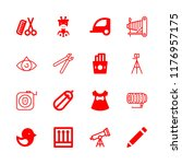 long icons set with camera... | Shutterstock .eps vector #1176957175