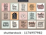 hand drawn typography posters... | Shutterstock .eps vector #1176957982