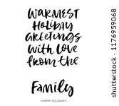 christmas family greeting card... | Shutterstock .eps vector #1176959068