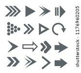 arrow icon set. vector | Shutterstock .eps vector #1176960205