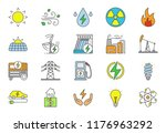 electric energy color icons set.... | Shutterstock .eps vector #1176963292