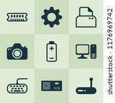hardware icons set with... | Shutterstock .eps vector #1176969742