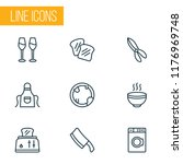 culinary icons line style set... | Shutterstock .eps vector #1176969748