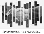 handshake of business man... | Shutterstock . vector #1176970162
