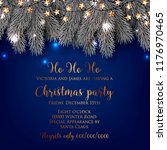 christmas party invitation... | Shutterstock .eps vector #1176970465