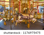 old fashioned french carousel... | Shutterstock . vector #1176975475
