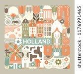 vector illustration with...   Shutterstock .eps vector #1176991465