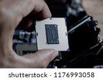 the processor is a desktop... | Shutterstock . vector #1176993058