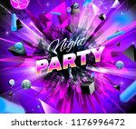 night party event multicolored... | Shutterstock .eps vector #1176996472