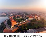 aerial view royal wawel castle... | Shutterstock . vector #1176999442